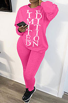 Loose At Home Casual Long Sleeve Letter Printing Pants Sets AMW8242