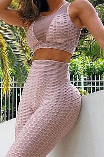 Yoga Suits Net Yarn Spliced Pineapple Cloth Sport Pants Sets Q796