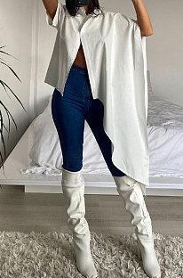Ανεπιθύμητα χαλαρά πουκάμισα μόδας με καθαρό χρώμα μόδας AMW8311