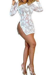 Προοπτική Sexy Club Zipper Open Fork Mini Dress Q795