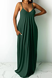 Свободное платье-бретель Euramerican Pure Color с карманом ARM8267