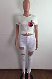 Fashion Hole High Waist Cultivate One's Morality Jeans LA3266