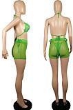 Мода горячее сверление чистой пряжи пляжное бикини из трех частей LML213