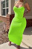 فستان طويل مثير بكشكشة لون نقي جالوس زراعة المرء الأخلاق الطويلة MLM9058