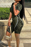 Women Cultivate One's Morality  Positioning Pythons Grain Zipper Two-Piece PQ8034