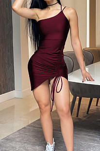 Cultivate One's Morality Мини-платье со сборками на шнуровке с ягодицами и открытой спиной MK041