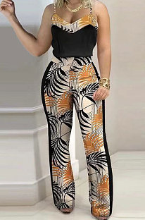 Digital Printing Gallus Sleeveless Trendy Casual Pants Sets SMX2022