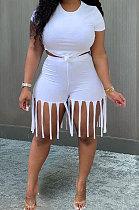 Женские спортивные шорты с кисточками Pure Color MTY6529