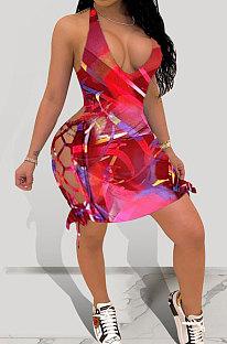 Mini vestido con ojales con estampado sexy MOL135