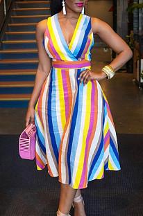 Сексуальное платье из семи цветов с застежкой-молнией JG043