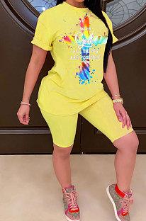 Модные женские повседневные шорты с цветным крестом и печатью ASX6010