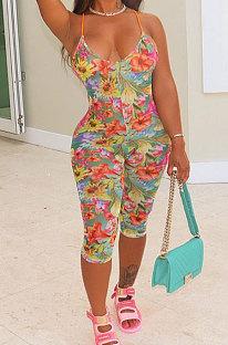 Модные повседневные комбинезоны с принтом Condole Belt Backless AFM2010