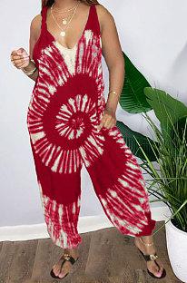 Свободный модный повседневный комбинезон с принтом для женщин AMN8008