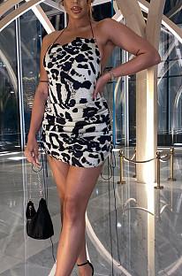 Женское мини-платье без рукавов с молочным принтом Euramerican JG019