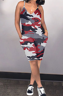 Модные сексуальные женские повседневные шорты с камуфляжным принтом AMN8002