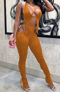 Sexy Trendy Pure Color Long Pants Bind Two-Pieces ASX6022
