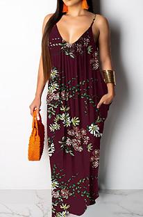 Модное летнее повседневное свободное платье без рукавов с v-образным вырезом SMR10200