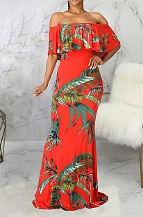 Модное сексуальное платье с одним словом с цифровым принтом Led Boob Tube, платье SMR10147