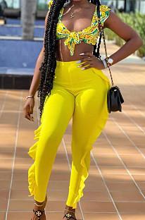 Повседневные длинные брюки карамельного цвета Summer Agaric Edge D8444