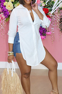 Fashion Sping Summer Casual Long Top D8443