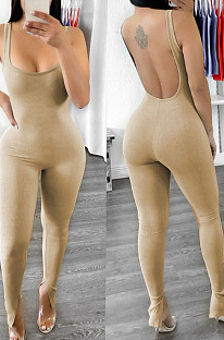 Модные сексуальные комбинезоны с открытой спиной и U-образным вырезом с открытой вилкой YT3271
