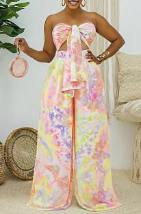 Комплекты свободных брюк Euramerican Fashion Chest Wrap Top X9142