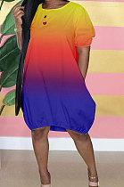 فستان نسائي قصير بتصميم متدرج GHH031
