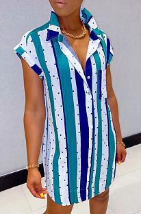 Платье-рубашка в полоску Euramerican Big Yards L0347