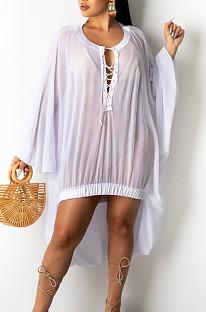 Модная повседневная пляжная блузка из чистой пряжи SY8807