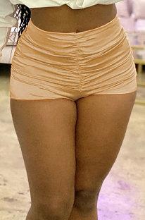 Sexy Pure Color Гладкие шорты со сборками HM5297