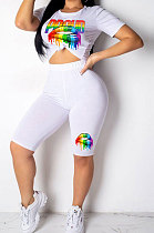 Euramerican Casual T Shirts Fifth Pants Two-Pieces HM5205