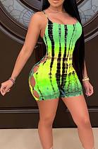 فستان مكشوف الظهر مثير بطباعة رقمية من Euramerican YYF8211