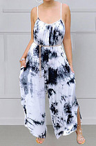 Fashion Big Yards Tie Dye Loose Sling Casual Jumpsuits MK048