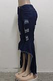 أزياء تقسم هول غسل كاوبوي ستيرتش متوهج السراويل SMR2468