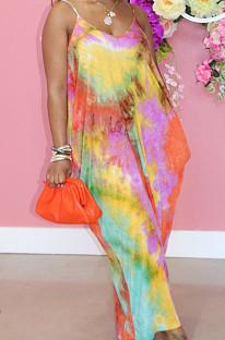 فستان فضفاض من Euramerican Fashion برقبة على شكل V وحمالات SMR10208_1