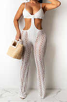 Perspective Sexy Lace Net Cloth Bodycon Jumpsuits Q840