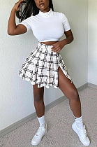 New Style Casual Summer T-Shirt Slaid Skirt Suits  MLD5043