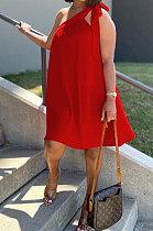 Fashion Women Irregularity Bind Casual Mini Dress NRS8068
