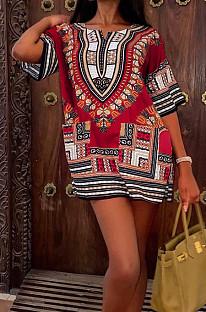 أزياء الصيف عارضة الطوطم اللباس الأفريقي W8389