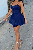 أزياء مثير كاوبوي ربط حبال فستان قصير W8386