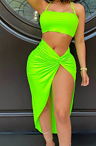 Fashion Sexy Hollow Out Knotted Strap Two-Piece XUY9100