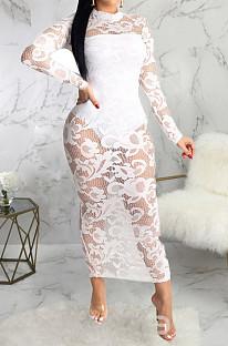 Fasguib Sexy Lace High Elastic Long Dress SMR10087