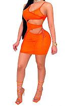 مثير نادي صافي الغزل معقود الشريط منظور فستان قصير MA6673