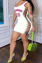 فستان قصير مثير بطباعة مفرغة YS346