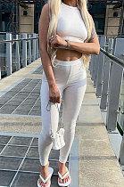 Vest Pit Bar Cultivate One's Morality Sport Casual Long Pants Sets Q879