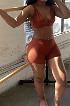 Sexy Summer Pit Bar Beach Pure Color High Elastic Casual Two-Piece ZDD31129