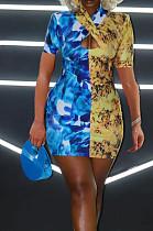 Euramerican Fashion Spliced Casual Dress XMY046