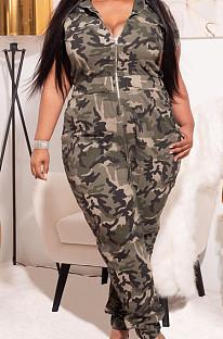 Summer Fashion Camouflage Printing Big Yards Jumpsuits XMY062