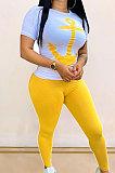 Sexy T Shirt Printing Long Pants Sets YMM9020