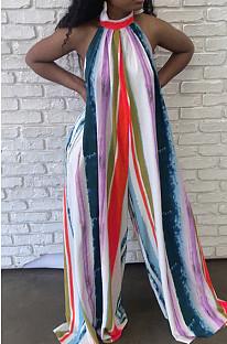 أزياء شنق العنق ربط عارية الذراعين التعادل صبغ حللا فضفاضة CYY00012